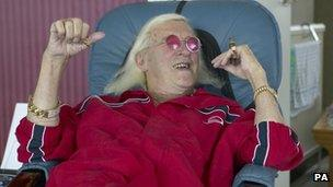 Jimmy Savile being interviewed by Ulster TV
