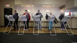 Voters cast their ballots in Toledo, Ohio