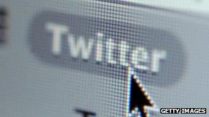 Twitter accessed on a computer