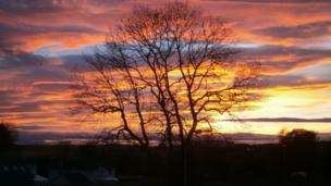 Sunset over Glenrothes