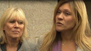 Mrs Sherriff, right, speaking outside court