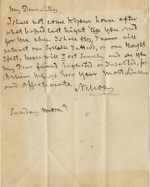 Love Letter To Your Wife.Nelson S Love Letter To Lady Emma Hamilton Goes To Auction