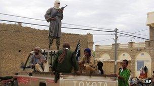 Islamist fighters in Timbuktu, Mali, in August 2012