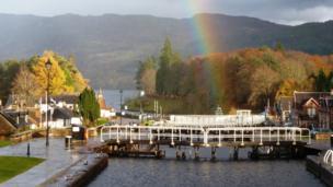 Rainbow in Fort Augustus