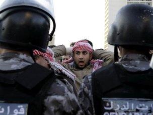 Protest in Amman (14 November 2012)