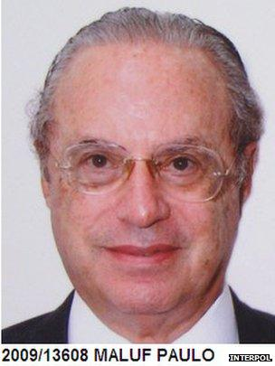 Interpol picture showing Paulo Maluf in 2009