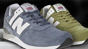 dde58654ec New Balance training shoes with small union jacks attached