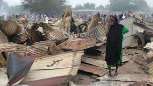 Garissa market in ruins