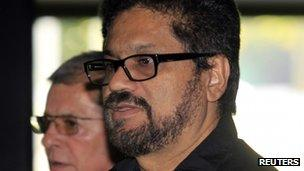 Farc rebel Ivan Marquez arrives for talks in Havana on 19 November
