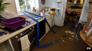 Flooded kitchen (Image: PA)