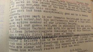 Extract from report of Prithvi Raj - Edwardes college, Peshawar