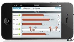 Nest iPhone app