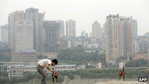 File photo: Construction site in the city of Chongqing