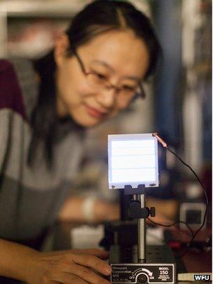 Wake university researcher with light
