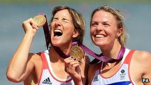 Katherine Grainger, left, and Anna Watkins