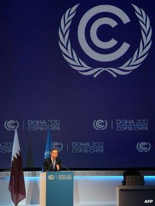 Ban Ki-moon at COP18