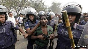 Police arrest a member of the Bangladesh National Party