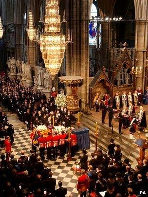 The Queen Mother's funeral