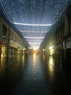 Lights in Paisley High Street