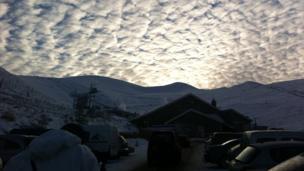 Sky over Cairngorm ski centre