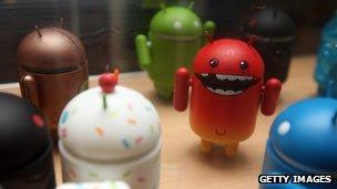 Plastic Android operating system robots
