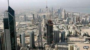 Skyline of Kuwait City (2009)
