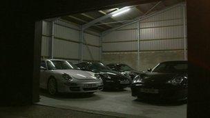 Hanger full of cars