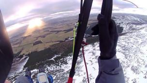 Paraglider's view of Tarland