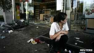 Ransacked convenience store in San Fernando