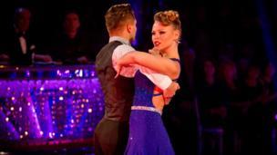 Kimberley Walsh dances the tango