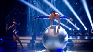 Louis Smith performs his show dance