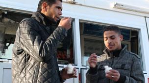 Ice creams eaters in Tripoli