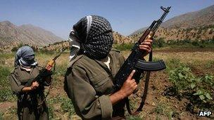 PKK fighters (archive image from 2007)
