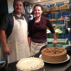 Bakery shop owners Laurence Thorne and Lucy Hornse
