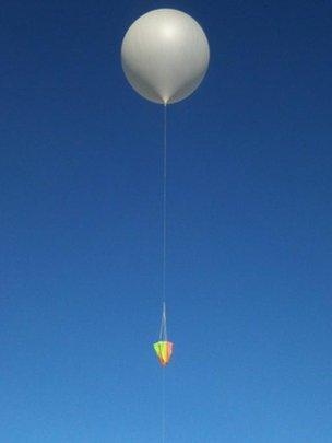 Balloon taking off