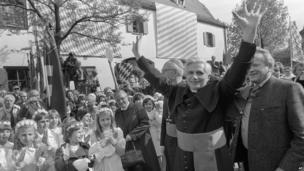 Joseph Ratzinger, the new archbishop of Munich and Freising, 1977