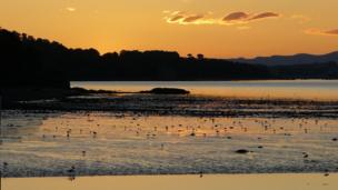 Sunset over Cramond