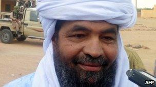 Iyad Ag Ghaly on 7 August 2012 in Kidal, Mali