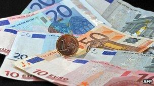 File photo: euro money