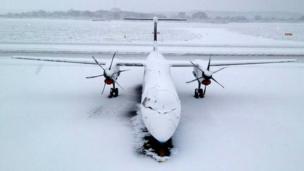 Aeroplane at Southampton Airport