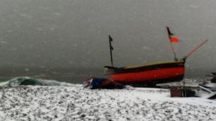 Fishing boat on Worthing seafront