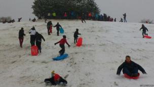 Tobogganing at Bolton's Bench