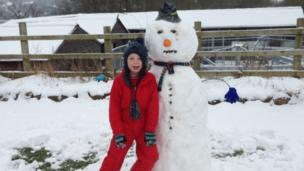 Ben and his snowman