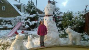 Megan's snow family