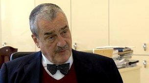 Czech foreign minister Karel Schwarzenberg said relations had got better