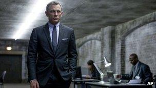 Daniel Craig as James Bond in a still from Skyfall