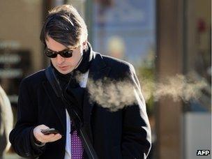 American using a phone