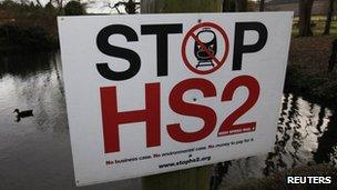 HS2 opposition poster