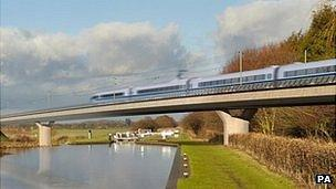 HS2 image of proposed train