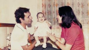 Orlando Rene Mendez, Leticia Margarita Oliva and their daughter, Laura.